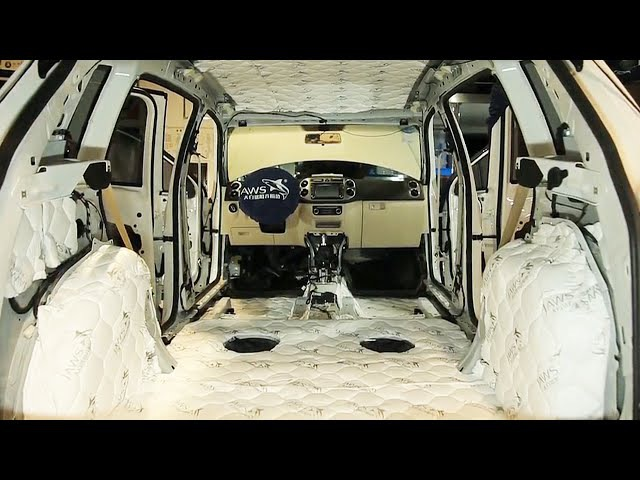Full soundproofing car. Vibration isolation and noise reduction.