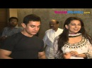 Aamir Khan and Juhi Chawla at 'Qayamat Se Qayamat Tak' 25-year completion party.