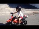 Moto électrique 24v (12v12v)réplique mini moto ducati hypermotard peg perego minibike