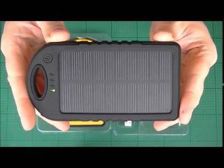 Solar Charger 5000mah /12000mAh Dual USB Rain-resistant Dust Proof Solar Power Bank