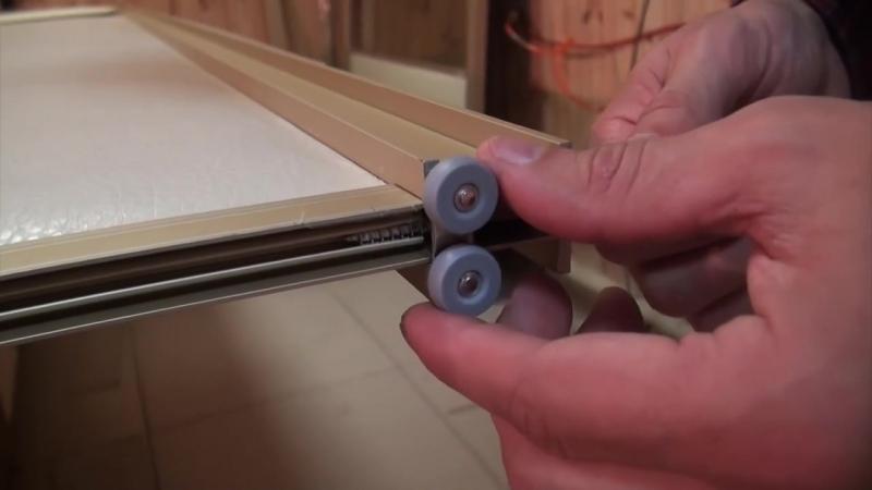 6 Шкаф купе своими руками Установка верхних роликов раздвижных дверей смотреть онлайн без регистрации