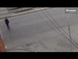 Автобус сбил пьяного пешехода, проходящего на запрещающий сигнал светофора. ДТП Бийск 8.05.17