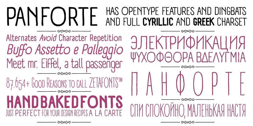 Panforte Pro шрифт скачать бесплатно