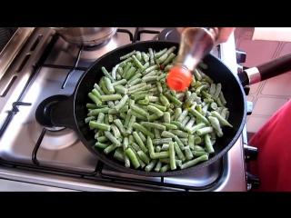 Зелёная стручковая фасоль - рецепт. Постное блюдо