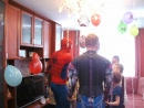Человек паук  с трансформером на празднике!