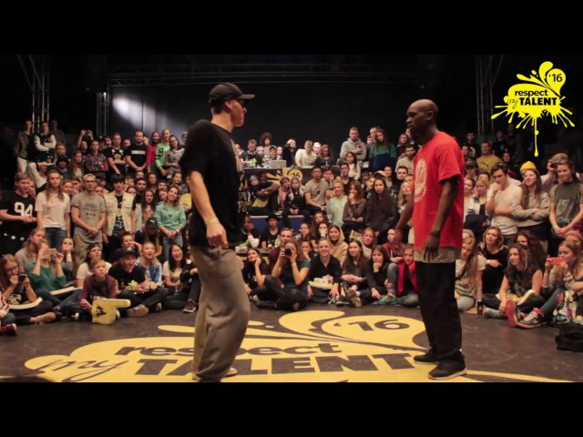 RESPECT MY TALENT-2016 MOSCOW. PRO HIP HOP 1/2 Sam Yudat (France) vs Dam'en (Russia)