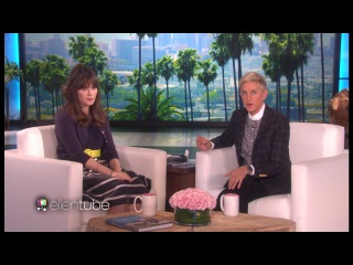 Zooey Deschanel Speaking about Co starring with Justin Timberlake on ellen