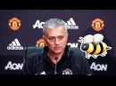 Jose Mourinho killing mosquito during press conference