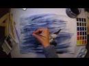 Рисуем отражение «Балтийская чайка» Draw the reflection of the Baltic Gull Timelapse video
