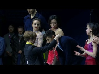 2017 Four Continents Championships Pairs Victory Ceremony