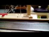 Как я вяжу Ажур- Ажурной кареткой на Toyote ks 858.