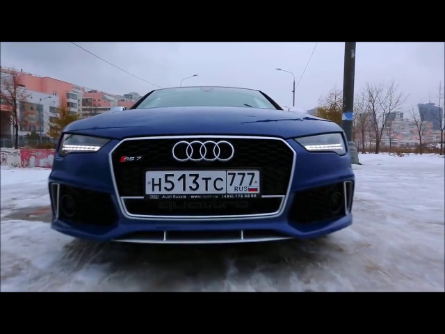 Audi RS7 Performans Testi Winter Snow Drift