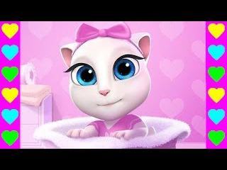 Кошка Анжела! Серия #1. Мультики про котиков. Мультфильмы для девочек. Игра про кошку.