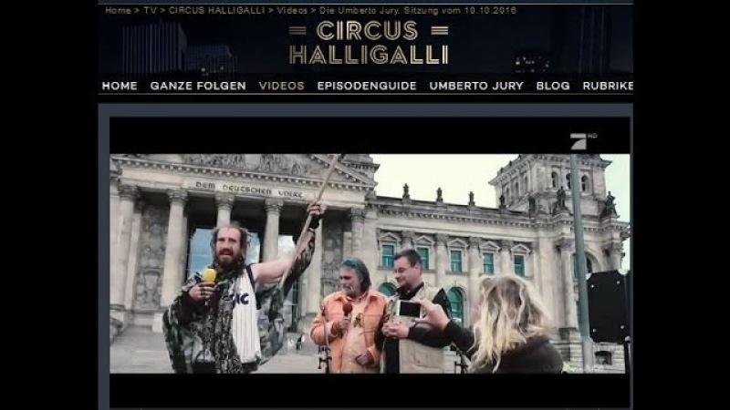 Was ist Parodie Satire? Pro7 Circus Halligalli zeigt wie es geht Reichstag Berlin 3. Oktober 2016