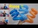 Como rizar globos largos - globoflexia facil - rizado de globos 260 - como hacer rizos con globos