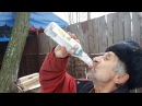 ТРИ бутылки ВОДКИ залпом и упал дед учит пить водку