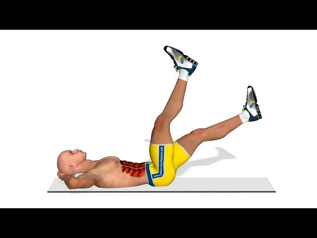 Best lower ab exercises: Legs elevation in 4 strokes