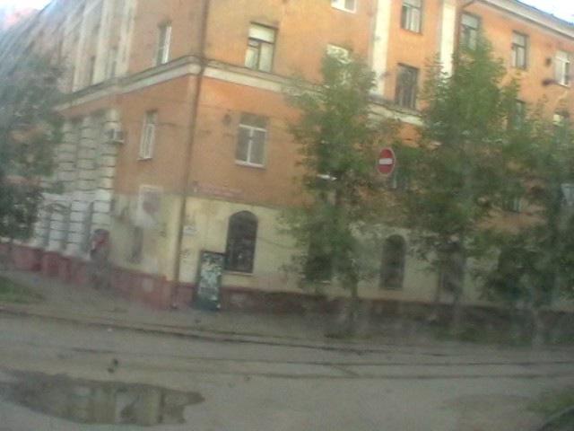 На трамвае от площади Труда до Мукомольного переулка