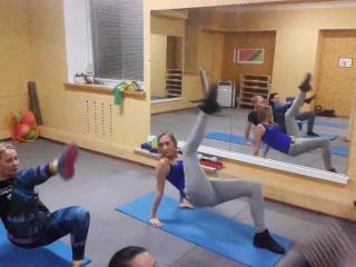 работаем на пресс и мышцы бедра, Олеся, стриппластика