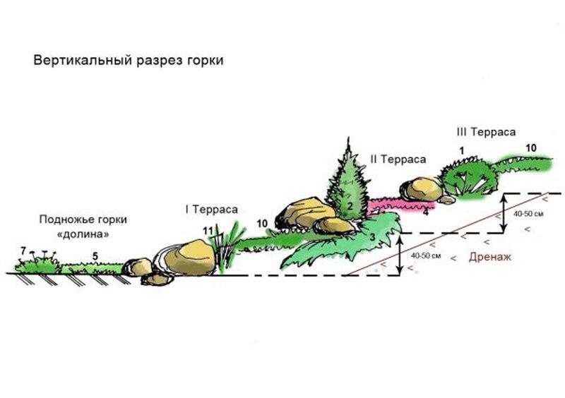 Альпийская горка - примеры