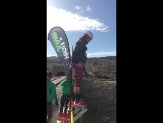 Неудачный прыжок оставил девушку без зубов. Тарзанка. Банджи-джампинг