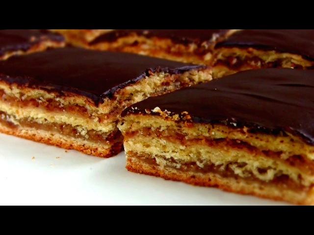 Пирог ЖЕРБО Пирог- торт с вареньем из песочно-дрожжевого теста