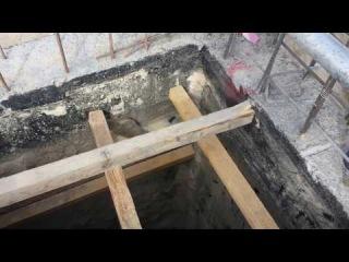 Preparing the ground for casting slab on grade -اعداد الارضية لصب البلاطة الارضية