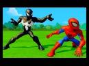 Человек Паук Мультик игра и Черный Человек Паук Гонки Тачки Машинки Дисней SpiderMan...