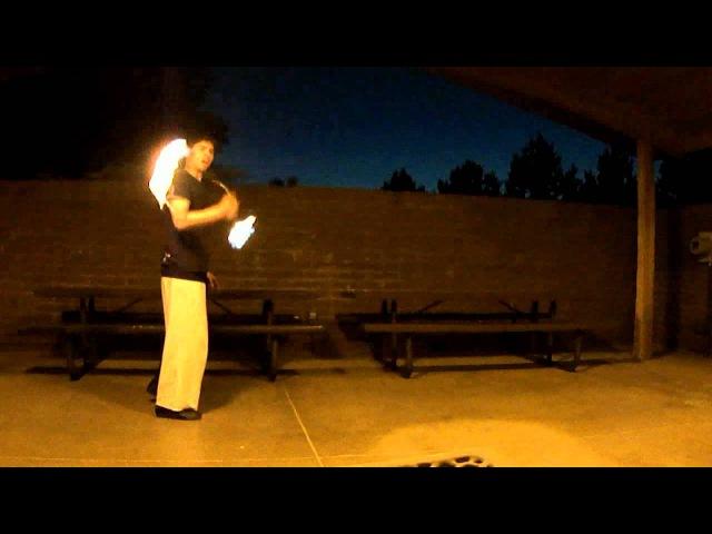 Tempest Ninja Ken Hill of Flowpulse Intense Fire Nunchaku Nunchuck Tricks