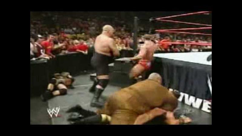 John cena vs snitsky (lumberjack match) - wwe raw 2005