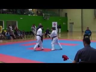 Flip Kick Knock Out: Girl Edition (Karate Girl Lands Surprise Knockout)
