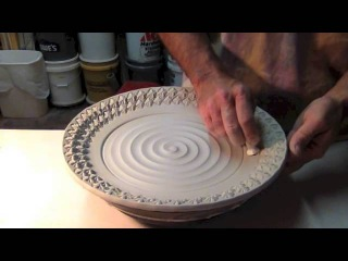 Platter Stamping by Gary Jackson : Fire When Ready Pottery
