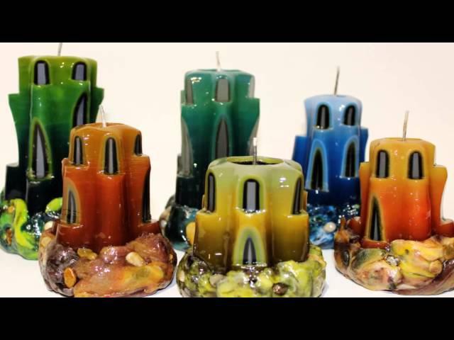 CandleCharm velas artesanais/talhadas feitas à mão por Iryna