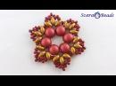 DIY Новогодние Идеи | Новогоднее Украшение Снежинка из Бусин 2-holes Caboshon