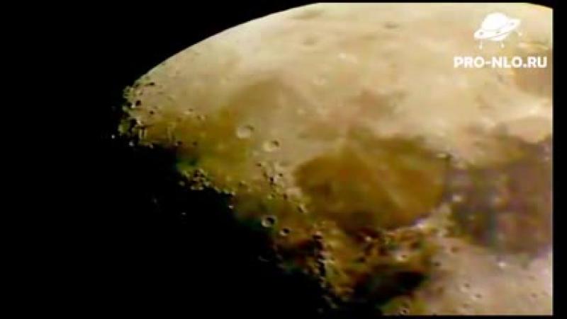 НЛО на Луне реальная съёмка. UFO on the moon 2012