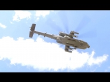 US Army - AH-64D Apache Attack Helicopter Rare View панелей отображения 720p