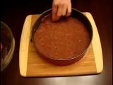 Творожный пирог с какао и вишней