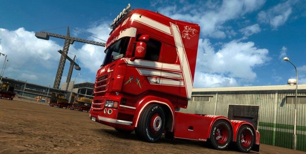 Скин Red Monster для Scania RJL