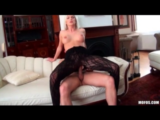 Hottest blonde he has ever had on his cock - lingerie porn
