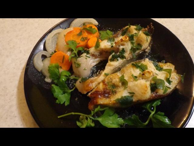 Диетическая рыбка с овощами на кефире. Полезно и вкусно!