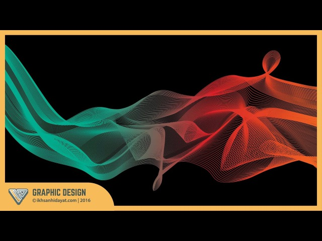 Graphic Design   How to create a colorful blending vector in Illustrator   Illustrator Tutorial