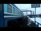 ДРБ1м-16 под тягой секции тепловоза 2М62У-0309А рейсом Осиповичи - Бобруйск и ЭПМ-002 на...