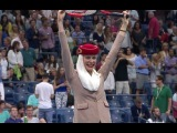 Cabin crew take centre stage at the US Open Tennis Emirates Airline