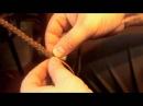 Как плести круглый шнурок косичку из кожи