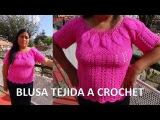 Blusa para damas a crochet Hojitas en Relieves VIDEO1 paso a paso