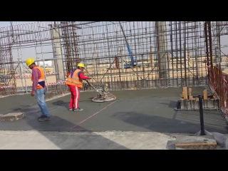 Make the slab on grade flat - تسوية طبقة البلاطة الخرسانية الارضي15