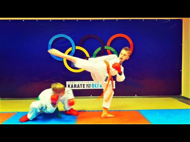 Развивающие комбинации в спортивном каратэ/Karate Fighting Combinations/KARATE CLUB SKIF