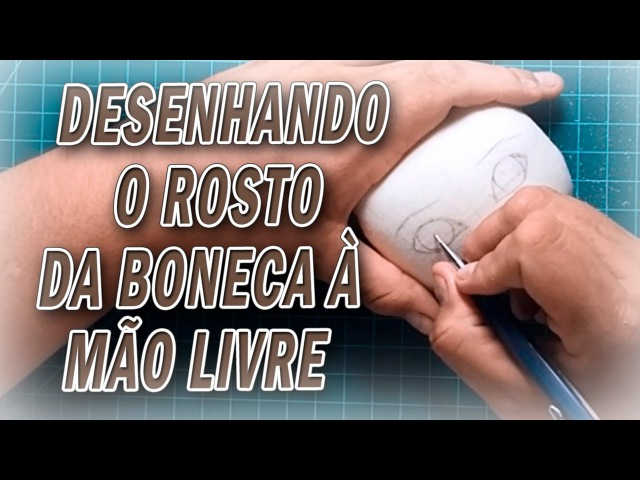 Boneca de pano riscando a cabeça da boneca a mão livre por Luciane Valeria ARTES DA TIA LÚ