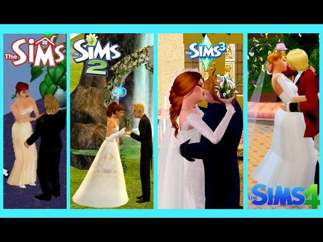 Sims 1 vs Sims 2 vs Sims 3 vs Sims 4 PROPOSAL and WEDDING