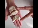 Способы красивой лепки гюрза (Азербайджанская кухня), пельменей и вареников